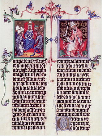 Electorate of Saxony - A page from the Golden Bull of 1356 of King Wenceslas, National Library of Austria