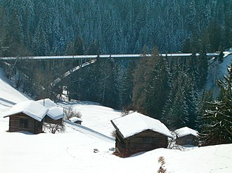 Gründjitobel Viaduct - Image: Gründjiviadukt 03