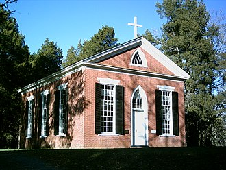 Grace Church (Ca Ira, Virginia) - Front view of the church, taken in October, 2008