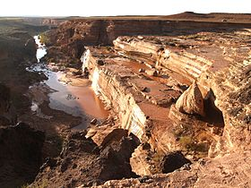 Grand Falls i Little Colorado River ved normal vandstand