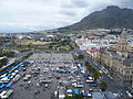 Grand Parade Cape Town - Aerial view Castle at the back and City Hall to the right.jpg