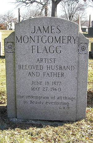 James Montgomery Flagg - The grave of James Montgomery Flagg in Woodlawn Cemetery