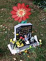 Gravestone and adornments, Newport Cemetery, Lincoln - geograph.org.uk - 588633.jpg