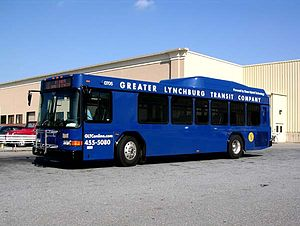 Greater Lynchburg Transit Company bus at Liber...