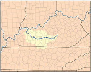 Green River (Kentucky) - Image: Greenkyrivermap