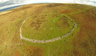 Hut circle - Grimspound on Dartmoor, a late Bronze Age settlement
