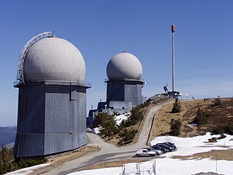 Radiolocation service -  Remote Radar Post 358 (RRP 117 of the German Air Force)