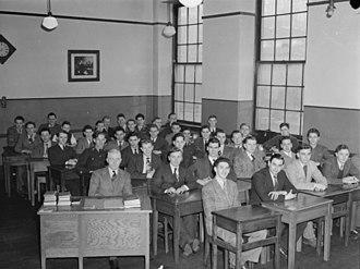 High School of Montreal - Grade 12 boys in class, 1945