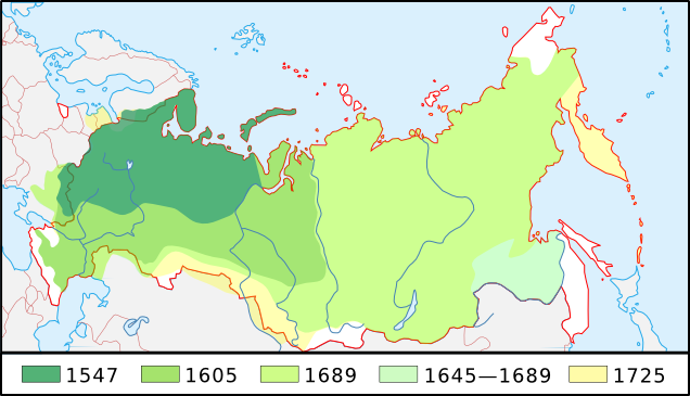 Growth of Russia 1547-1725