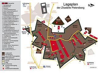 Petersberg Citadel - Image: GrundrißPetersberg