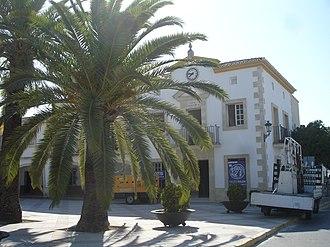 Instituto Nacional de Colonización - Town Hall in Guadalcacín, formerly Guadalcacín del Caudillo, one of the villages established by the Instituto Nacional de Colonización in 1952