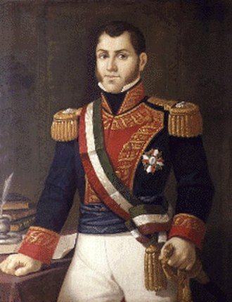 First Mexican Republic - Portrait of Guadalupe Victoria, 1826.