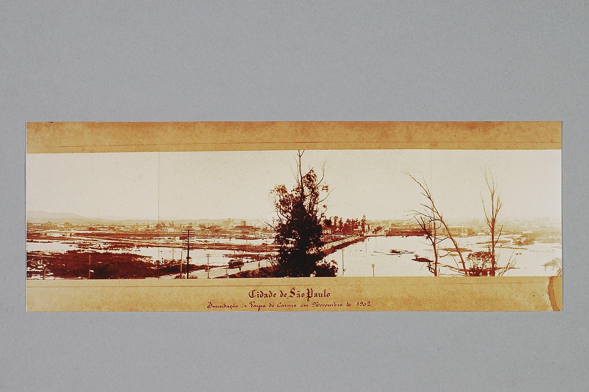 Cidade de São Paulo - Inundação da Varzea do Carmo em Novembro de 1902