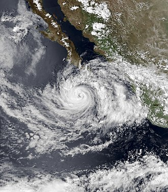 1979 Pacific hurricane season - Image: Guillermo Sept 11 1979 2210Z