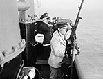 Gunnery Trials of HM Submarine Sunfish, Portsmouth, 4 November 1943. A20294.jpg