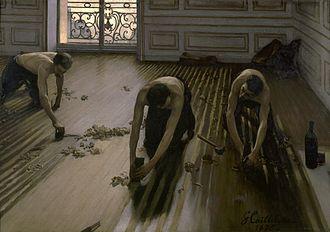 Gustave Caillebotte - Les raboteurs de parquet (1875), a controversial realist subject, Musée d'Orsay