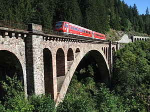Wutach (river) - The Gutach Bridge on the Höllental Railway