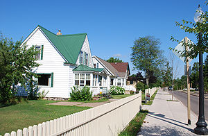 Gwinn, Michigan - Houses near downtown Gwinn