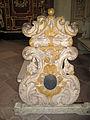 Höxter, Corvey, St. Stephanus und Vitus, Seite einer Sitzbank.JPG