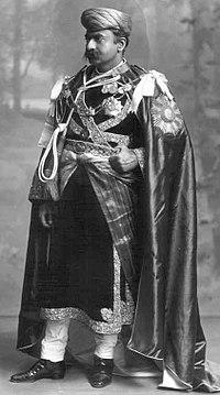 H.H. Maharaja Thakore Shri Sir Bhagwant Singhji Sagramji Sahib Bahadur, Maharaja of Gondal, GCSI, GCIE, 1911.jpg