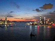 Hongkong-Historia-Fil:HK Harbour at Dusk 20110805