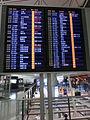 HK Intl Airport 香港國際機場 departure zone airlines notice sign night July-2013 HKIA.jpg