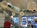 HK Mong Kok Pioneer Centre courtyard ceiling lamps decoration Sept-2012.JPG