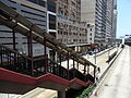 HK Sheung Wan Des Voeux Road West footbridge stairs June-2012.JPG