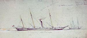 HMS Beagle (1854) - HMS Beagle with HMS Wrangler