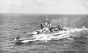 HMS Warspite (03) - Image: HMS Warspite, Indian Ocean 1942