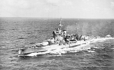 1942 年在印度洋上航行的厌战号