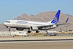 HP-1717CMP Copa Airlines 2011 Boeing 737-8V3 - cn 40665 - ln 3595 - McCarran International Airport, Las Vegas (11076616874).jpg