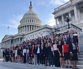 HSDA members pose on the steps of the United States Capitol.jpg