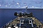 HUP Retriever landing aboard the light cruiser USS Roanoke (CL-145), in 1956.jpg