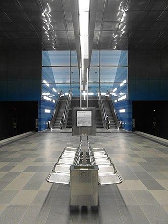 Überseequartier (Hamburg U-Bahn station) - Image: Hamburg U Bahnhof Überseequartier (13219009575)