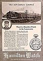 Hamilton Watch Company Ad - 1921 B&O Mag.jpg