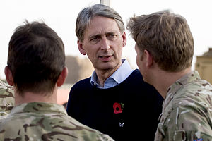 Philip Hammond - Hammond meeting British troops in Helmand Province, Afghanistan