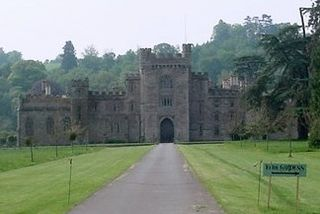 Hampton Court Castle castellated country house in Herefordshire, England