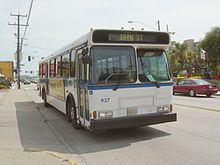 A Hampton Roads Transit Bus On Pacific Avenue In Virginia Beach