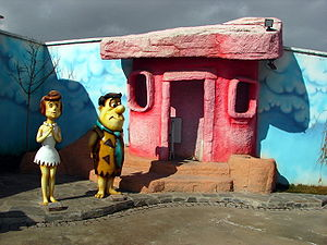 Wilma Flintstone - Wilma and Fred Flintstone figurines, Ankara Amusement Park