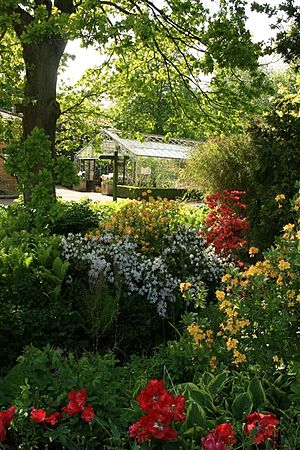 RHS Harlow Carr One of the greenhouses seen ac...