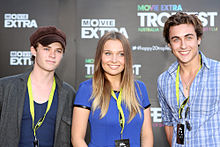Harrison Gilbertson, Marny Kennedy and Taylor Glockner 2012.jpg
