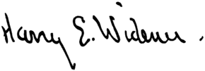 Harry E. Widener signature.png