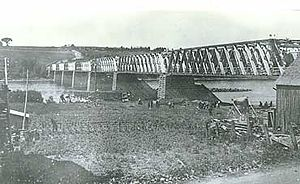 Hartland Bridge - Hartland Bridge when it opened on July 4, 1901.