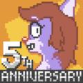 HarvettFox96 - User Avatar - Belinda Vixen's Fifth Anniversary (without political flag and logo variant).png