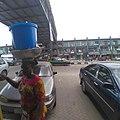 Hawking of beverage and bread local itoku market 01.jpg