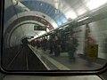Haymarket Metro station platform from train 2010-03-01.jpg