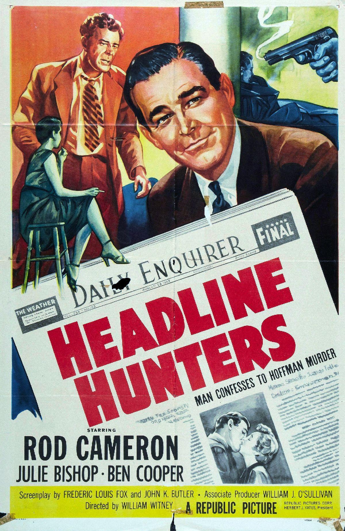 headline hunters  1955 film