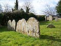 Headstones, St Leonard's Church - geograph.org.uk - 1716198.jpg