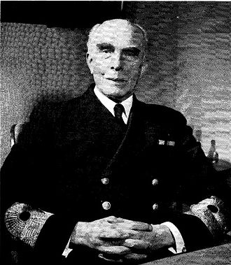Helge Strömbäck - Vice Admiral Helge Strömbäck at his resignation as Chief of the Navy in 1953.